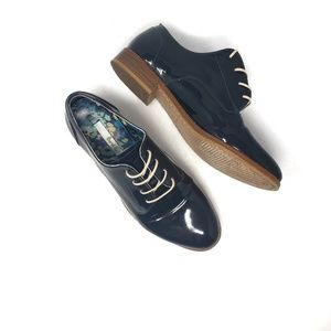 Boden Leather Lace Navy Blue Oxfords